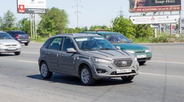Spied - Datsun mi-Do hatchback spotted testing in Russia