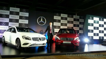 IAB Report - Mercedes A Class, B Class Edition 1 launched at 26.17 lakhs & 28.75 lakhs