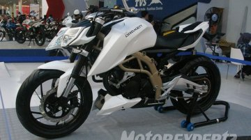 Indonesia - TVS Draken, Graphite and Scooty Hybrid showcased at Jakarta Fair