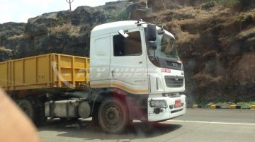 Spied - Tata Prima 4040.S flagship tractor trailer caught testing