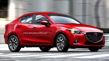 Rendering - 2015 Mazda2 sedan has the Honda City in its crosshairs