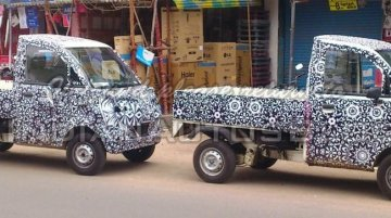 Spied - IAB reader snaps the Mahindra P601 LCV with varying wheelbases up close