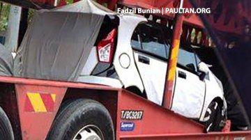 Malaysia - Hyundai i10 rivaling Proton P2-30A small car shows its taillight