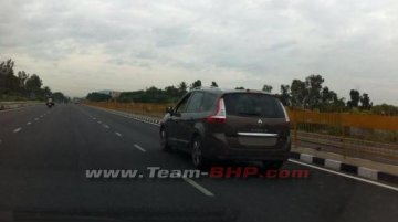Spied - What is this undisguised Renault Grand Scenic (Mobilio rival) doing in India?