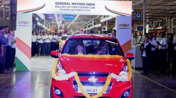 IAB Report - GM CEO Mary Barra rolls out first export car from Indian plant