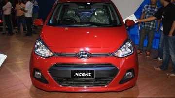 Hyundai Xcent at the 2014 Nepal Auto Show