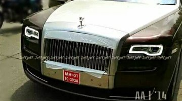 Spied - Rolls Royce Ghost Series II spotted in India for the first time