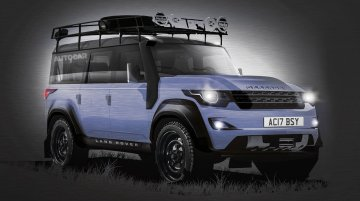 Rendering - Next generation Land Rover Defender launching in 2016