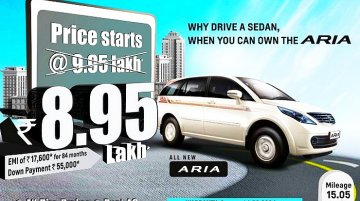 Report - Tata Aria gets a price cut of INR 1 lakh, starts at INR 8.95 lakhs now