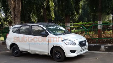 Datsun Go+ spotted in Pune - Spied