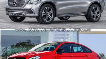 Mercedes Concept Coupe Vs Mercedes GLE Coupe - Concept Vs Reality