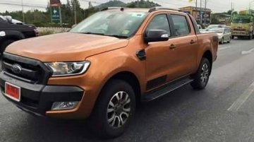 2015 Ford Ranger Wildtrak (new Endeavour pickup) caught in the open - Spied
