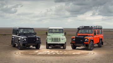 Land Rover Defender Special Editions revealed; production to end in U.K. in Dec 2015