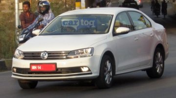 2015 VW Jetta (facelift) caught again in India - Spied