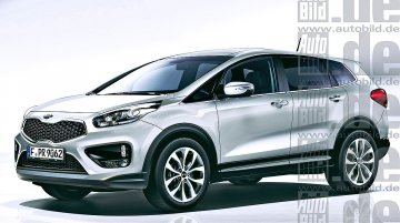 Kia planning a hybrid crossover - Rendering