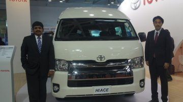 Toyota Hiace showcased in India, launch confirmed - IAB Report