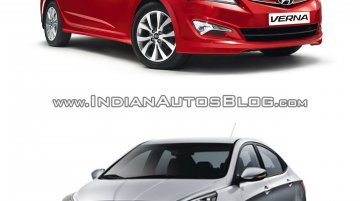 Hyundai Verna facelift vs 2014 Hyundai Verna - Old vs New