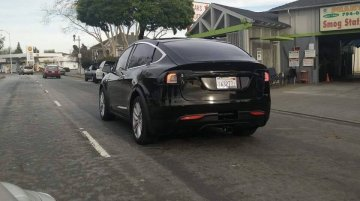 Pre-production Tesla Model X SUV spotted with minimal disguise - USA