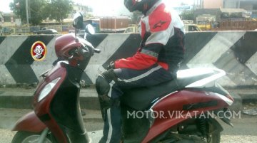 Yamaha Nozza Grande 125 cc scooter spotted testing in India for the first time - Spied
