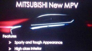 Mitsubishi's Ertiga-rivaling 2017 MPV teased - Report