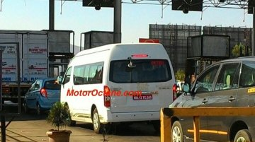 Toyota Hiace spotted testing in India, launches in mid-2015 - Spied