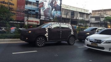 MG GS compact SUV spotted in Thailand - Spied