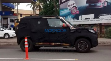 Mahindra U301 shows off its compact dimensions - Spied