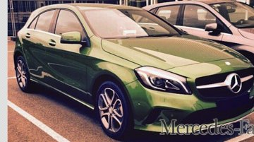 Alleged 2016 Mercedes A-Class (Facelift, India-bound) snapped undisguised - Spied