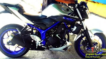 Yamaha MT 25 (naked Yamaha R25) spotted without camouflage - Spied