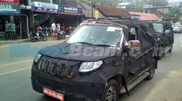 Mahindra U301 compact SUV snapped in Kerala - Spied