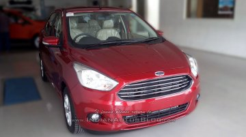 Ford Figo Aspire spotted in dealership for the first time - Spied