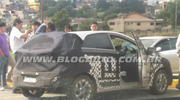 2016 Hyundai HB20 (facelift) spotted testing in Brazil - Spied