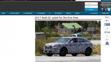Audi Q1 compact SUV starts testing ahead of Geneva debut - Report