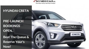 "MYNEWCAR.IN receives more than 700 Enquiries to Book the most-awaited SUV ""Hyundai Creta"" Online"