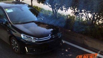 2015 Citroen C4 sedan caught testing in China - Spied