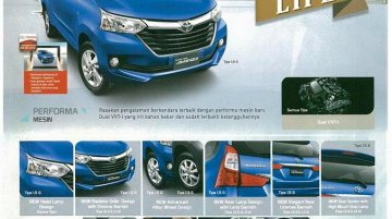 Toyota Grand New Avanza feature list leaks online - IAB Report