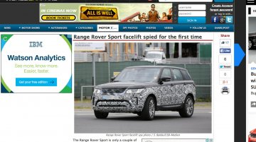 2017 Range Rover Sport (facelift) begins testing - Report