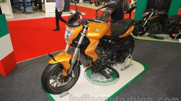 India-bound Benelli TNT 25 displayed at IIMS 2015 - IAB Report