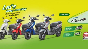 Suzuki Let's scooter now available in dual-tone colors - IAB Report