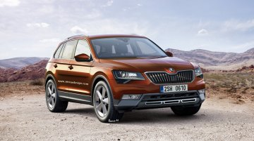 Skoda's upcoming 7-seater SUV 'Snowman' - Render