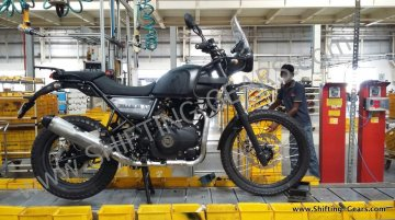 Royal Enfield Himalayan hits the assembly line - Spied