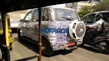 2016 Mahindra Quanto (facelift) snapped testing in Nashik - Spied