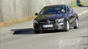 2016 Mercedes CLA (facelift) spotted with minimal camouflage - Spied