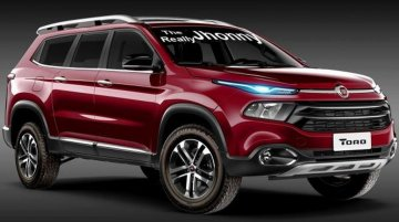 Fiat Toro pick-up imagined as an SUV - Rendering