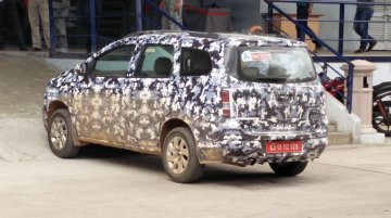 India-spec Chevrolet Spin testing in Bangalore - Spied