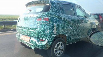 Mahindra XUV100 (S101) with Chevy Beat-like door handles - Spied