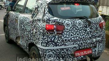 Mahindra S101 (XUV100) caught testing in Nashik by IAB reader - Spied