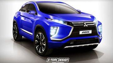 Second Generation Mitsubishi ASX based on Mitsubishi eX Concept - Rendering