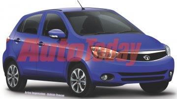 Tata Kite hatchback - Rendering