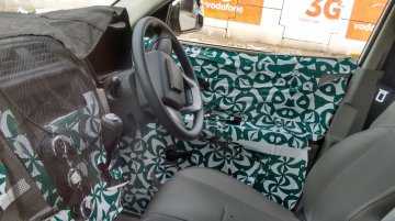 Interior of the Mahindra S101 (XUV100) snapped up close - Spied